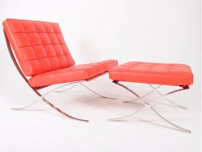 Ludwig Mies Van Der Rohe Estilo Barcelona Cadeira E Otomano Em Cadeiras  Para Sala De Móveis No AliExpress.com | Alibaba Group