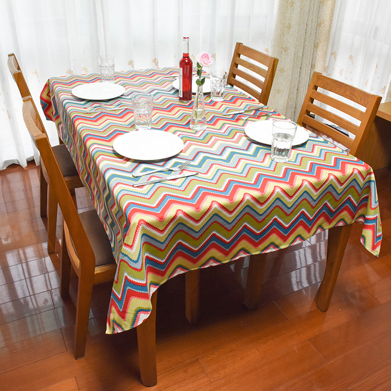 HUACAN Tablecloths Cotton Canvas Dinning Table Cover Elegance Cloth For Living Room Study Kitchen