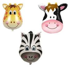 BINGTIAN new mini zebra head aluminum balloons birthday party balloons wholesale children s toys