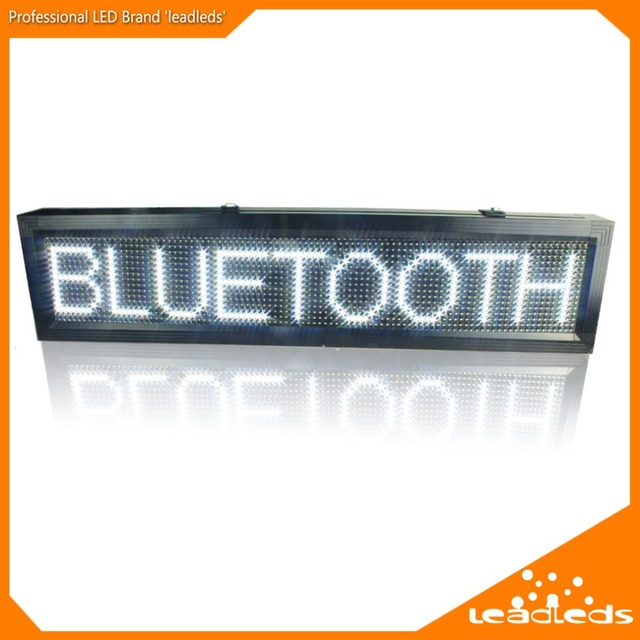 Белый p10 наружных светодиодных Войдите IP65 водонепроницаемый Поддержка USB Wi-Fi редактировать для рекламы СВЕТОДИОДНЫЙ Дисплей