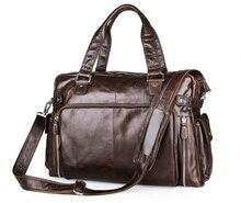 Large Capacity Genuine Leather Men Messenger Bags Shoulder Bag for Men CrossBody Business Briefcase Laptop Handbag #MD-J7288