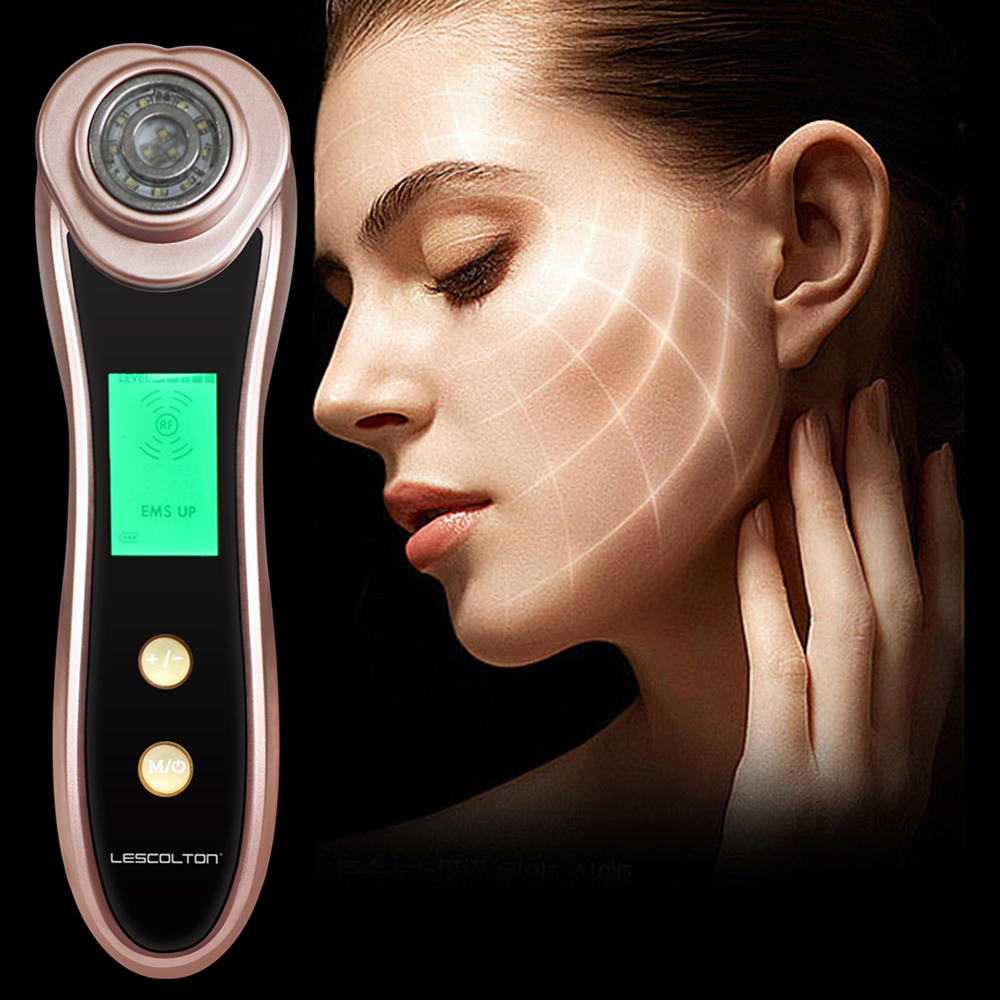 RF Radio Frequency Facial Machine Portable EMS Beauty for Skin Rejuvenation  Wrinkle Removal Skin Tightening Anti Aging Therapy