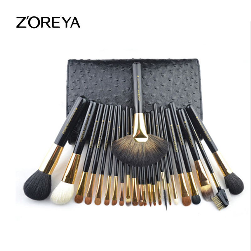 ZOREYA Brand 24pcs Professional Makeup Brushes Set High Grade Animal Wool Makeup Brush Beauty Makeup Tools Cosmetic Brushes мика варбулайнен призрак записки библиотекаря фантасмагория