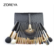 hot deal buy zoreya brand 24pcs professional makeup brushes set high grade animal wool makeup brush beauty makeup tools cosmetic brushes