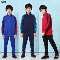 ZMSM Kids Autumn Winter Tracksuit Running Sets Children Soccer Jackets Pants Outdoor Jogging Zipper Coat Football Training suit