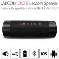 JAKCOM-Altavoz portátil Bluetooth impermeable para exteriores, columna inalámbrica de altavoces para bicicleta, luz LED, realce de graves, banco de energía de 5200mAh, OS2