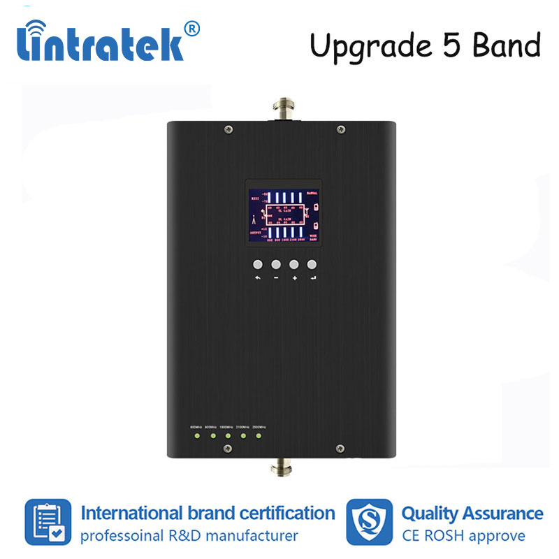 Lintratek Powerful 800 900 1800 2100 2600MHz 5 Band Mobile Phone Signal Booster GSM W-CDMA UMTS LTE Signal Repeater Amplifier #6