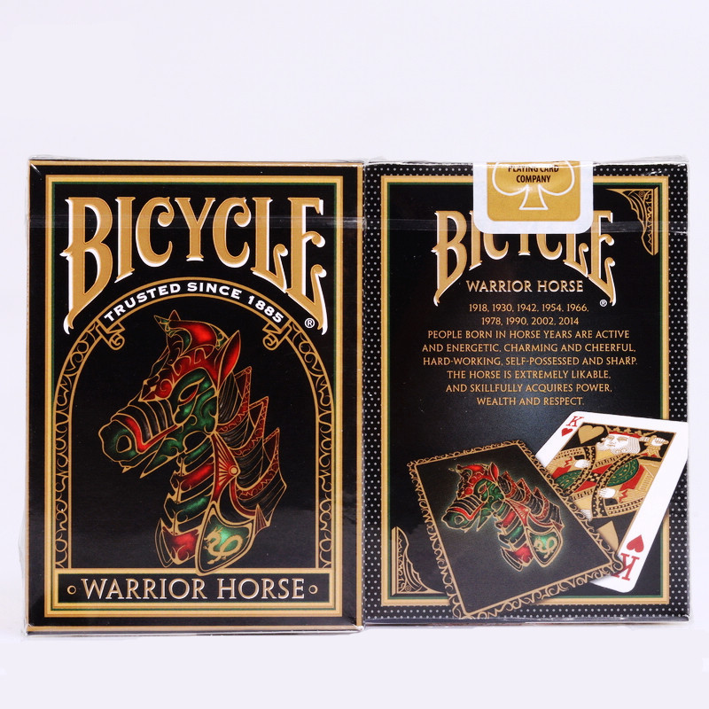 1pcs Bicycle Warrior Horse Playing Cards 88*63mm Magic
