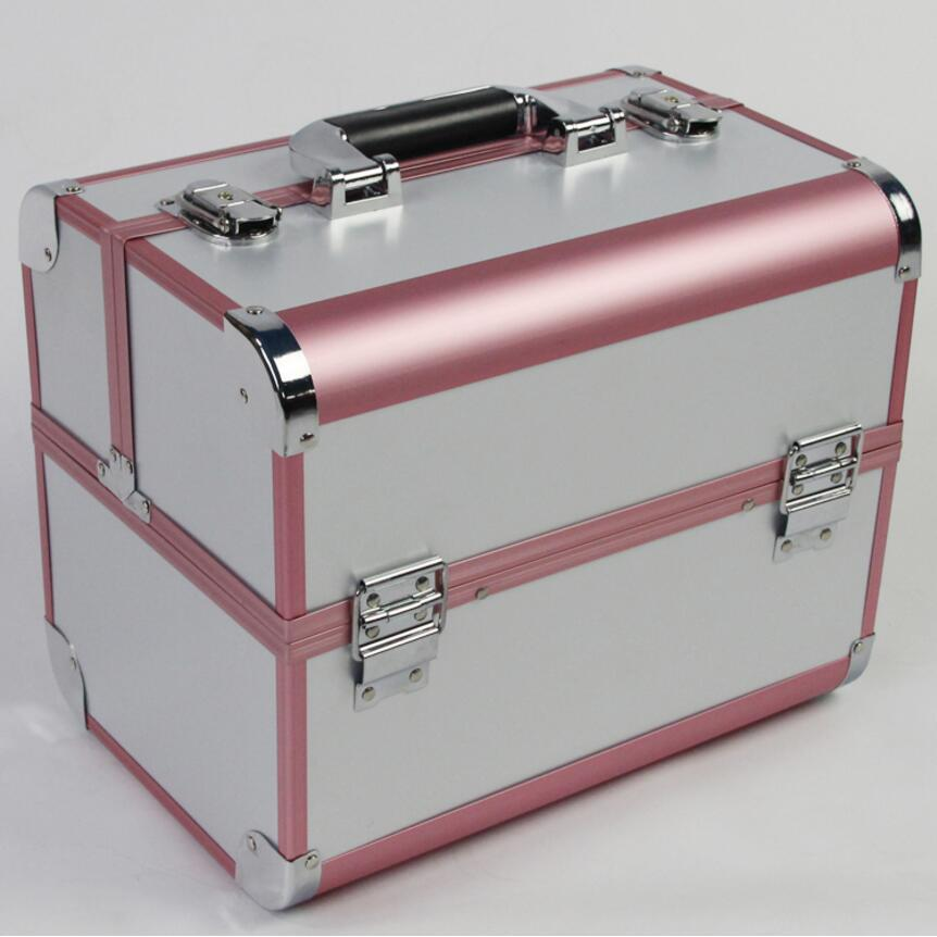 Large Size Organizer for Cosmetics,Portable Makeup Box Suitcase,Make Up Organizer Case Jewelry Storage Box Holder Bag for Travel
