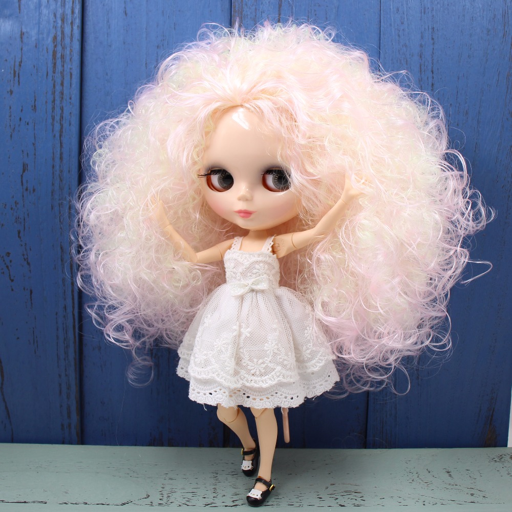 factory blyth doll pink mix yellow hair natural skin joint body BL1017/400 1/6 30cm