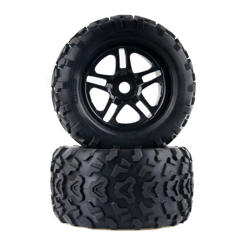 Tires With Wheel T3010 160mm 4P Fit RC Traxxas E-MAXX HPI Savage Flux 1:8 Truck Big foot tire S E general madmax wide wheel light tire with adapter nut for 1 5 rc truck traxxas x maxx