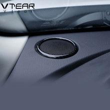 Vdéchirer – anneau Audio pour Mazda CX-3 CX3, pièces intérieures en fibre de carbone, couvercle de haut-parleur, pilier avant, cadre sonore