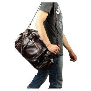 Image 4 - ABDB male bag England Retro Handbag shoulder bag PU leather men messenger bags brand high quality mens travel crossbody bags