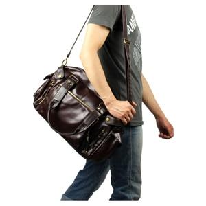 Image 4 - Bolso de hombre ABDB, bolso Retro inglés, bandolera de piel sintética para hombre, bandoleras de viaje para hombre de alta calidad