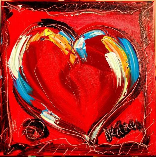 pop art red heart lover you oil paintings canvas large canvas