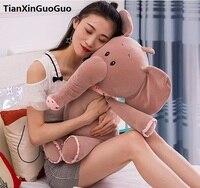 Large 65cm Cartoon Gray Elephant With Scarf Plush Toy Soft Doll Throw Pillow Birthday Gift W2789