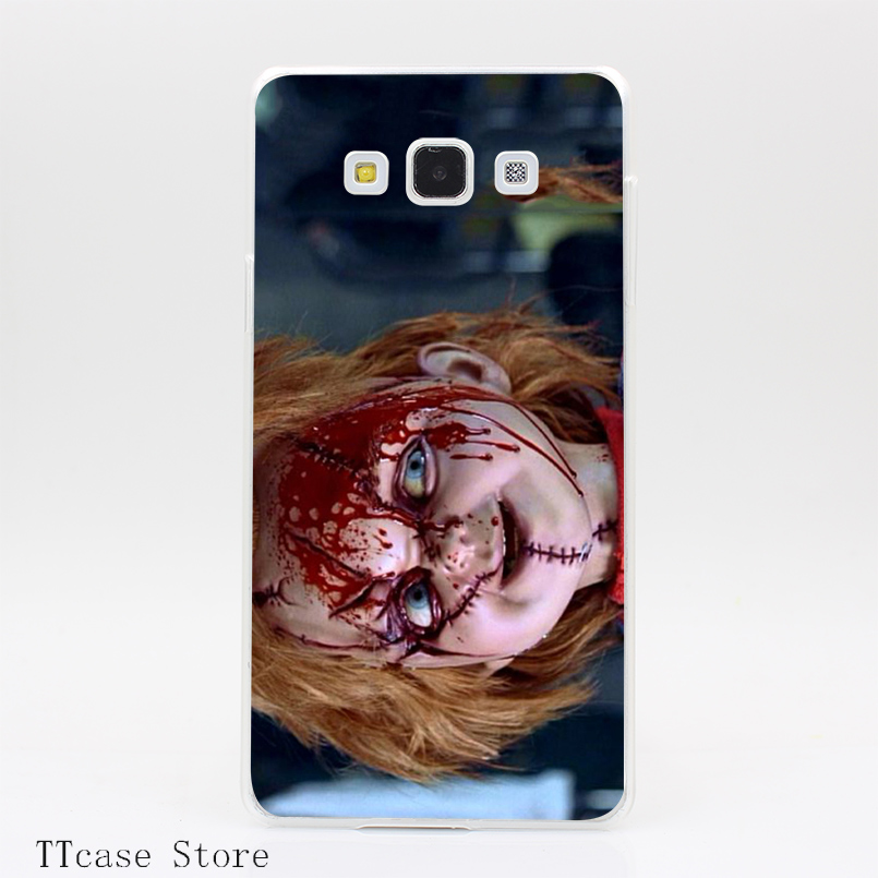 3022CA Scary Chucky Doll Special Design Transparent Hard Cover Case for Galaxy A3 A5 A7 A8 Note 2 3 4 5 J5 J7 Grand 2 & Prime