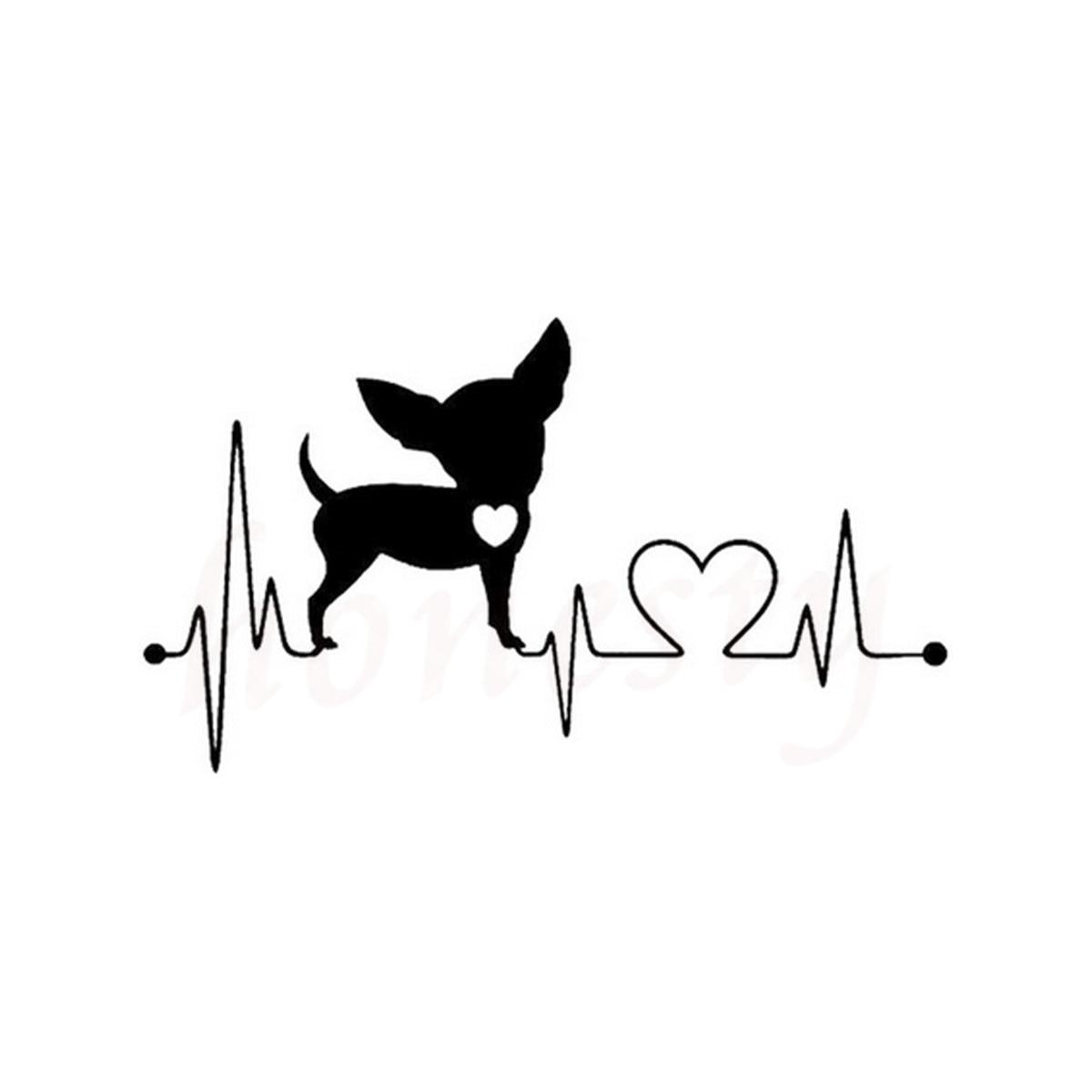 Chihuahua Heartbeat Dog Funny Animal Car Stickers Wall