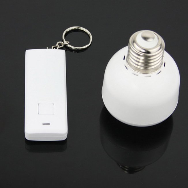 Delightful 1Set Brand New Wireless Led Remote Control Light Switch E27 Light Bulb  Holder Bases RC E27 Lamp Socket Base Retail Package In Lamp Bases From  Lights ...