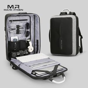 Image 2 - Mark Ryden New Anti thief USB Recharging Men Backpack NO Key TSA Lock Design Men Business Fashion Message Backpack Travel