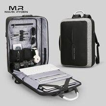 Мужской рюкзак Антивор Mark Ryden, деловой рюкзак с USB подзарядкой, без ключа, с замком типа TSA, подходит для путешествий, 2019
