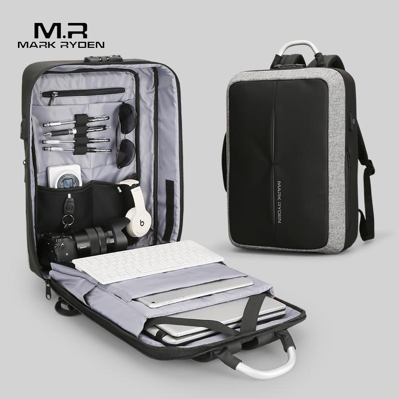 Mark Ryden nouveau Anti-voleur USB recharge hommes sac à dos pas de clé TSA serrure conception hommes d'affaires mode Message sac à dos voyage
