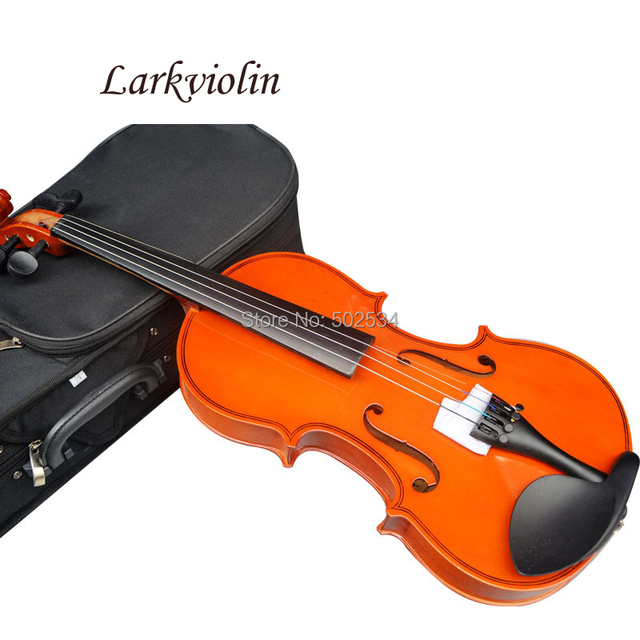 Larkviolin di compensato violino 1/32 1/16 1/8 1/4 1/2 3/4 4/4 violino inviare custodia del violino, colofonia, arco