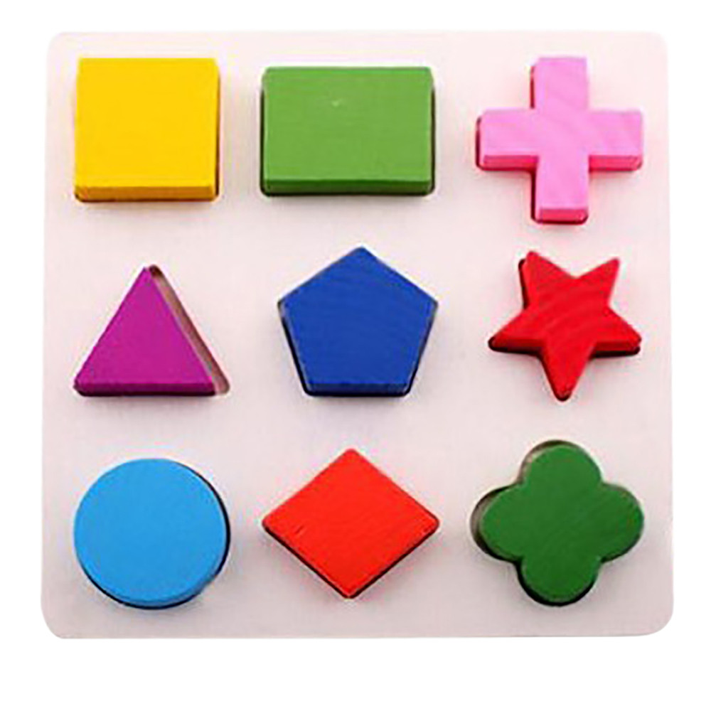 Wooden Educational Toys Learning Geometry Building Puzzle Montessori Method for Baby Kids Toy Intellectual Toy For Chidren