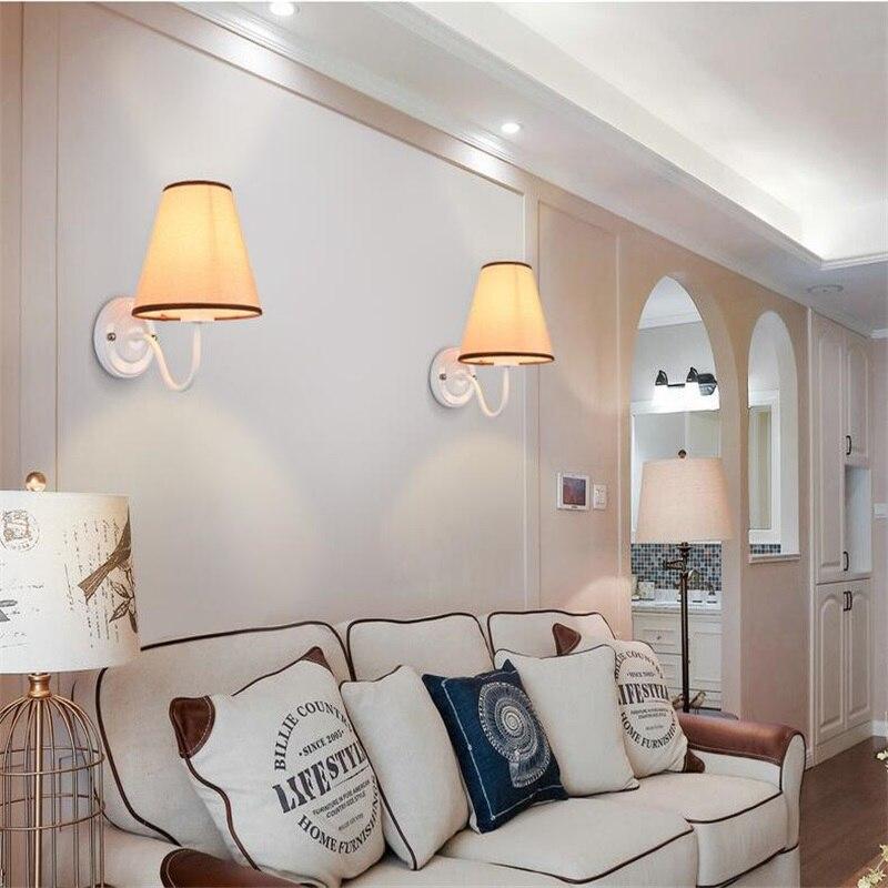 HQXING Moderne LED Stoff + Eisen Wandleuchte Dekoration Beleuchtung  Schlafzimmer Lesenachtwandleuchten Schwarz/weiß/braun/leinen In HQXING  Moderne LED Stoff ...