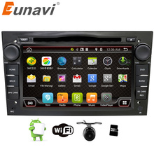 Eunavi 2 din android 6.0 Quad core car dvd player for Opel Astra Vectra Antara Zafira Corsa gps navi bluetooth radio 3G wifi RDS