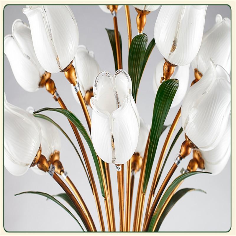 Flower Floor Lamps Wrought Iron Glass Art Deco Floor Lamp Warm ...