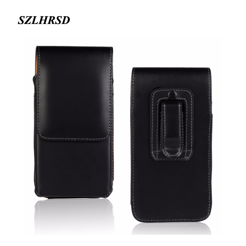 SZLHRSD Belt Clip PU Leather Waist Holder Flip Pouch Case for Ulefone S9 Pro Blackview BV9500 A20 Hisense H20 Phone cover