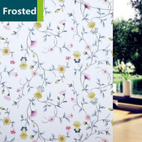 1.22m x 5m Window Cover Films Home Decorative Self Adhesive Flower Decorative Window Glass Stickers Party Office Home Decor