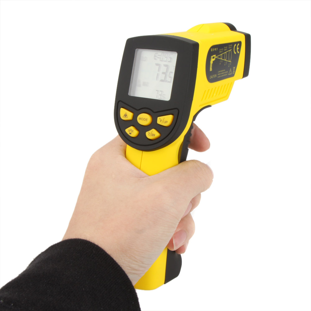HoldPeak Digital laser Infrared IR Thermometer Gun Non contact 50~1300C(  58~2372F) Temperature Tester Pyrometer W  LCD Backligh-in Temperature  Instruments ... 9b3fa6121a80d