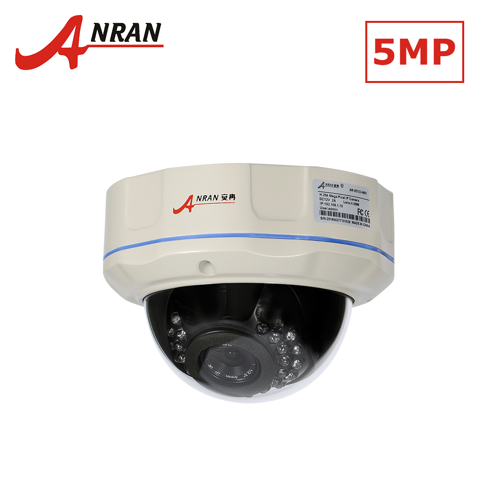 ANRAN IR Dome IP Camera 5MP Full HD Outdoor POE CCTV Camera30IR Leds H.265 Night Vision P2P Security Camera Surveillance Camera anran poe cctv camera 5mp h 265 p2p surveillance video monitor 5mp onvif security ip camera outdoor night vision hd 1944p cam