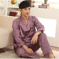 Noble Pajamas For Men Long Sleeve Silk Satin Sleepwear Mens Pyjamas Sets Plus Size 3XL