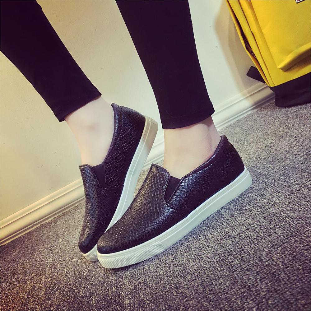 Simple 2016 Spring Women Casual Shoes Genuine Leather Flats Shoes Oxford