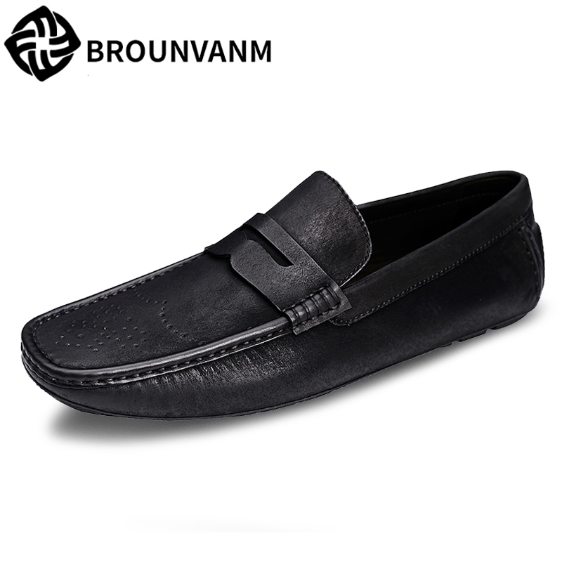 loafer shoes men spring and autumn summer men's Driving shoes British retro all-match cowhide breathable casual shoes male spring and autumn summer british retro men s lazy doug shoes loafer shoes men driving shoes male leisure driving casual cowhide