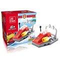Fogo heróis mini fire engine truck barco helicóptero building block Bombeiro da cidade para as crianças brinquedos
