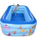 250 см прямоугольник 3 кольцо Детские надувные бассейн детский бассейн семейный детский надувной бассейн Крытый плавательный бассейн