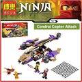 Original BELA 10321 Compatível Legoes Ninjagoes Condrai Helicóptero de Ataque 70746 Tijolos de Construção Brinquedos Para As Crianças