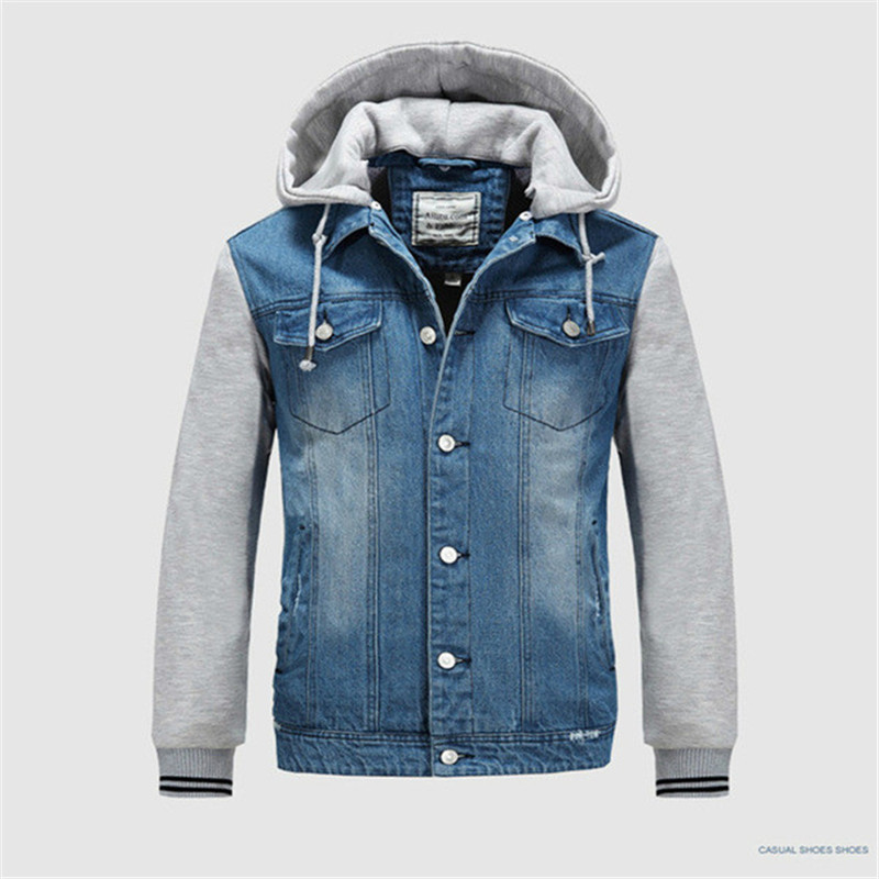 Popular Sweatshirt Sleeve Denim Jacket-Buy Cheap Sweatshirt Sleeve ...
