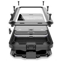 Luxury Dirt Shock Waterproof Dropproof 4 Proofs Metal Aluminum Case For Iphone 4 4s 5 5c