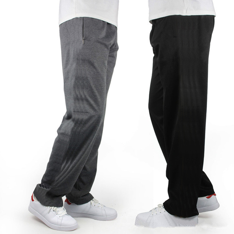 Brand Men Plus Size Pants 7XL Side Stripe Baggy Loose Elastic Pants Cotton Sweatpants Casual Pants Trousers Large Track Pants