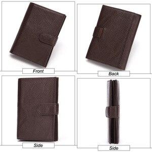 Image 2 - GENODERN funda de pasaporte para hombre, cartera funcional grande con soporte para pasaporte, monedero, organizador de carteras