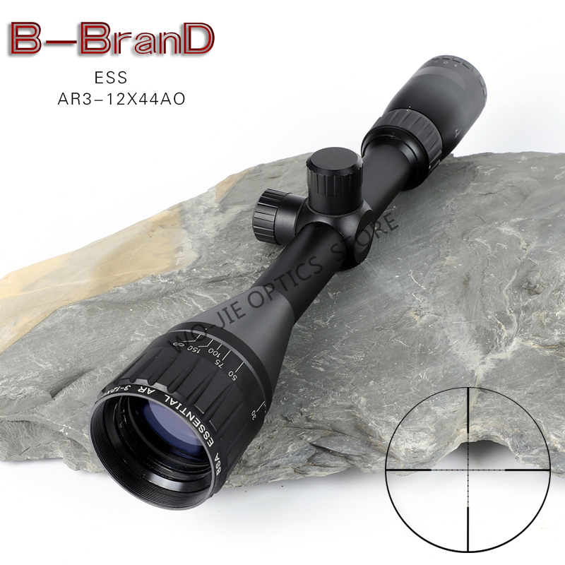 BSA ESS AR 3-12X44 AO Tactical Riflescope Red Green Illuminated Rifle Scope Sniper Optic Sight Hunting Scopes Rifle Air Red Dot