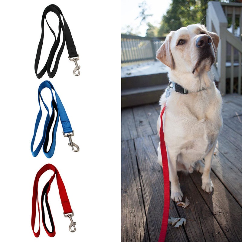 Pet Traction Strap Sturdy Premium 1-Layer Dog Leash Foam Padded Handle Nylon
