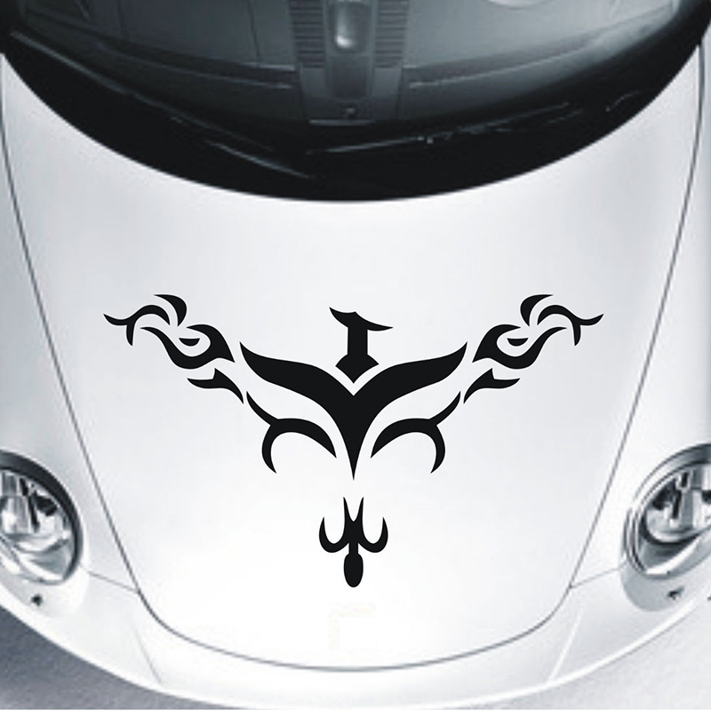 Hood Flames Tribal Vinyl Decal Sticker Car Truck Vehicle Graphics Racing Decor