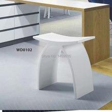Salle de bains surface solide pierre tabouret Suana cabines de douche de bain chaise wd102