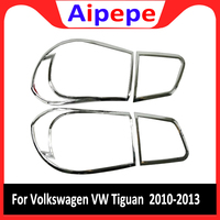Para Volkswagen VW Tiguan 2010-2013 ABS Chrome Rear Tampa Da Lâmpada Da Luz Da Cauda do Farolim Traseiro Etiqueta Acessórios Do Carro Guarnição
